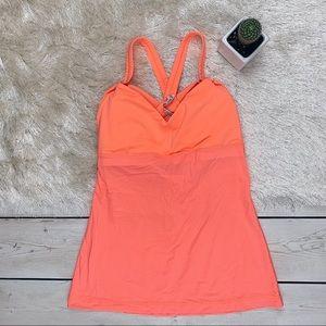 lululemon athletica   Neon Orange Tank w/ Bra NWOT